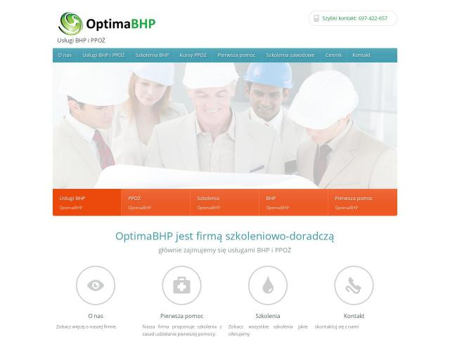 OptimaBHP - Kurs bhp poznań
